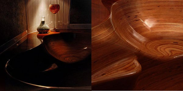 Mesmerizing Wooden Sink Takes 12 Weeks to Create