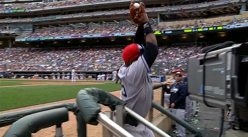 Yankees' Zelous Wheeler Makes Terrific But Meaningless Catch In Dugout