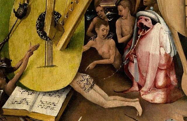 Listen to the Butt Song from Hell written on a 500-year-old painting