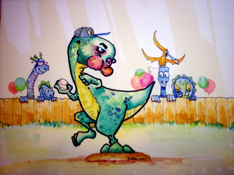 A Children's Treasury Of Dinosaurs Playing Sports