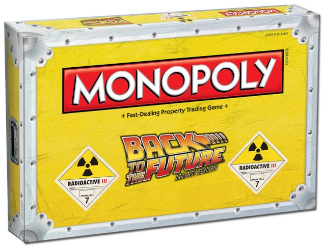You'll Fight Over BTTF Monopoly's Tokens Before the Game Even Starts