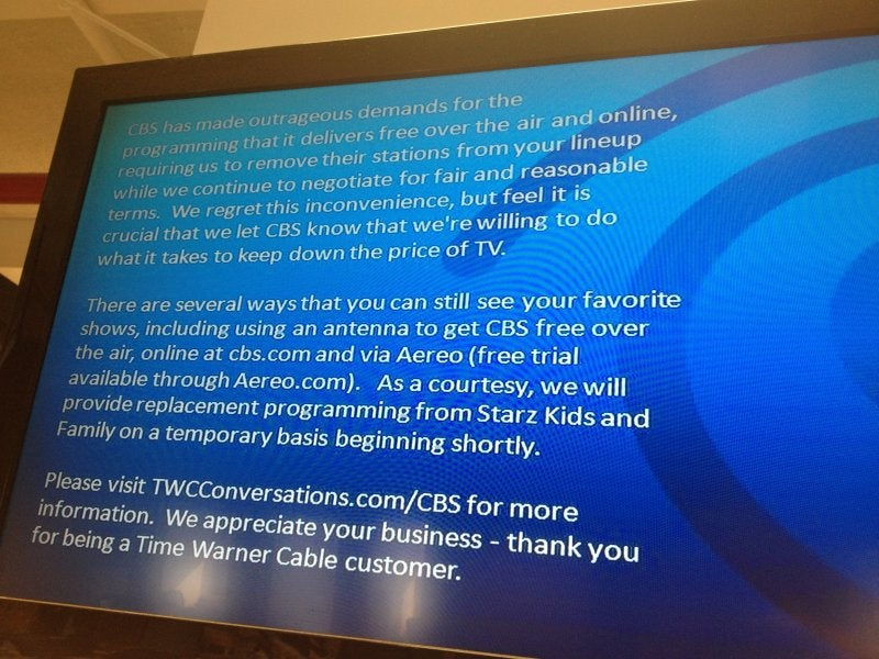 Time Warner Cable Drops CBS Programming