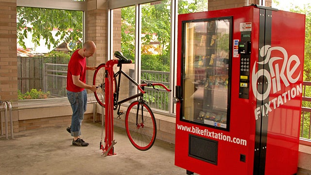 The Bike Repair Vending Machine That Sells Parts, Tools, and Snacks