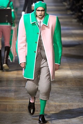 Preppy-fetish runway fashion would be perfect Venture Bros. henchmen wear