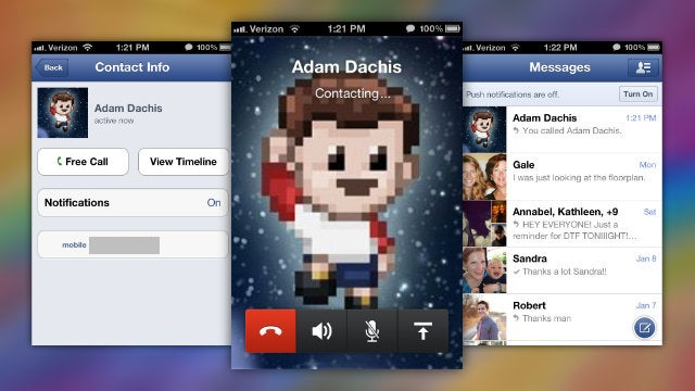 Facebook Messenger Makes Free Calls to Any Facebook Friend on Your iPhone