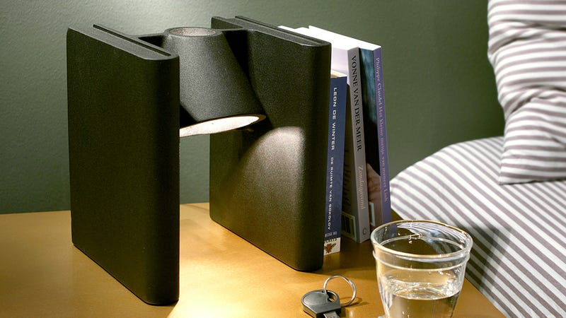 Clever Bookend Lamp Hides Between Hemingway and Shakespeare