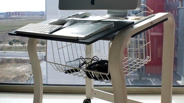 Transform an Ikea Chair Frame into a Portable Computer Desk
