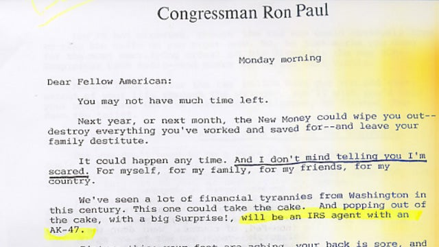 Ron Paul Direct Mail Warned Of 'Race War,' 'Federal-Homosexual Cover-up On AIDS'
