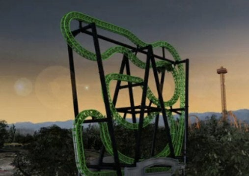 Six Flags' new Green Lantern roller coaster: the blackest vomit