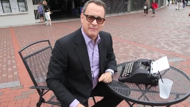 Podcast Host Convinces Tom Hanks to Do an Interview by Bribing Him with a Vintage Typewriter