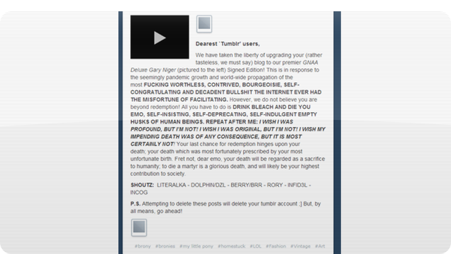 Tumblr's Getting Massively Hacked Right Now (But There's an Easy Fix) (Update: All Clear!)