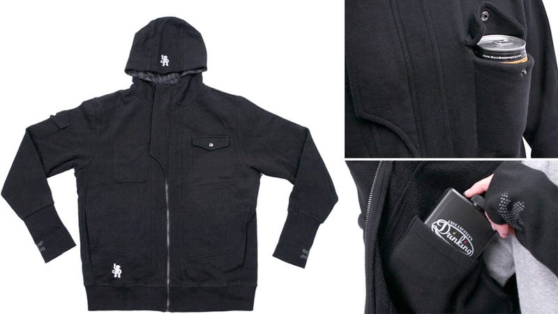 Drinkmaster Hoodie Keeps You Warm and Drunk On a Cold Night Out
