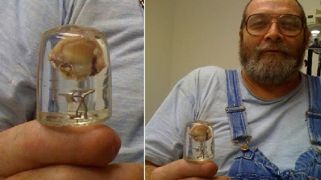 Man selling his own thumb to save haunted train museum