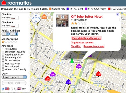 RoomAtlas Puts Hotel Searches on a Google Map, Is Awesome