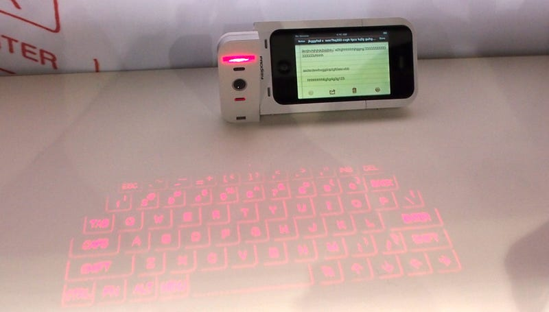 Are Those Laser Keyboards Finally Usable When Embedded In an iPhone Case?