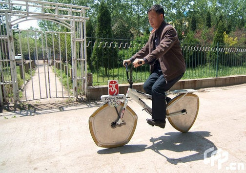 Revolutionary Bicycle Doesn't Use Wheels or Any Common Sense