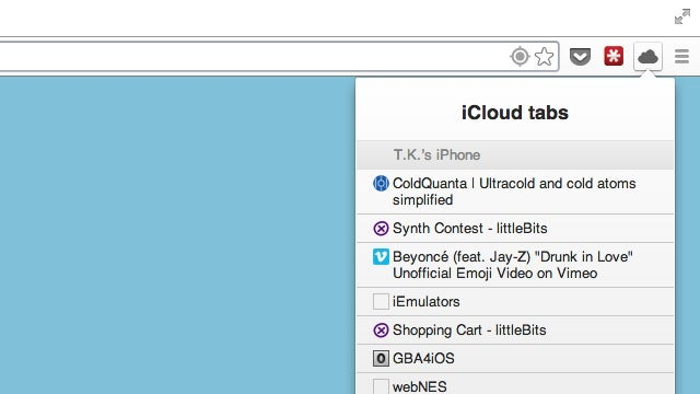 ThunderCloud Brings Your iCloud Bookmarks Into Chrome