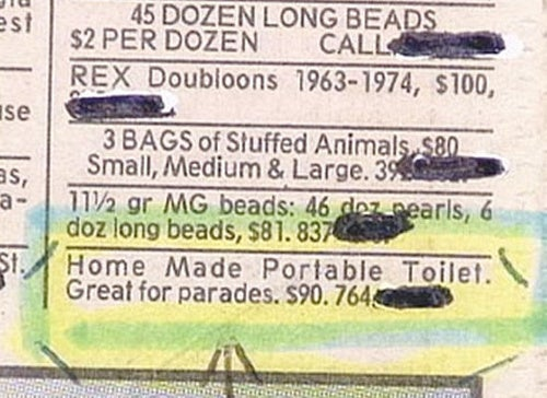 Sell Your Crap in the Classifieds