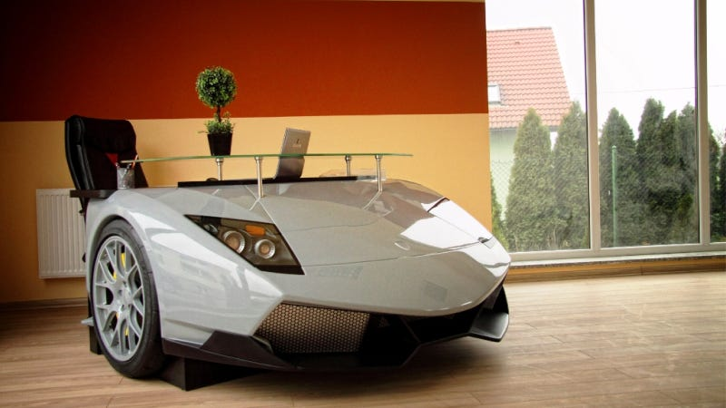 This Is An $11,000 Desk Made From A Lamborghini's Nose