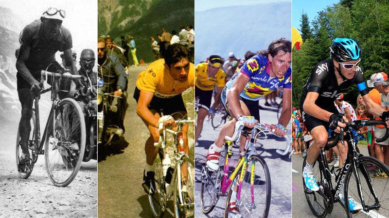 101 Years of Tour de France Bikes Map the Evolution of Cycling