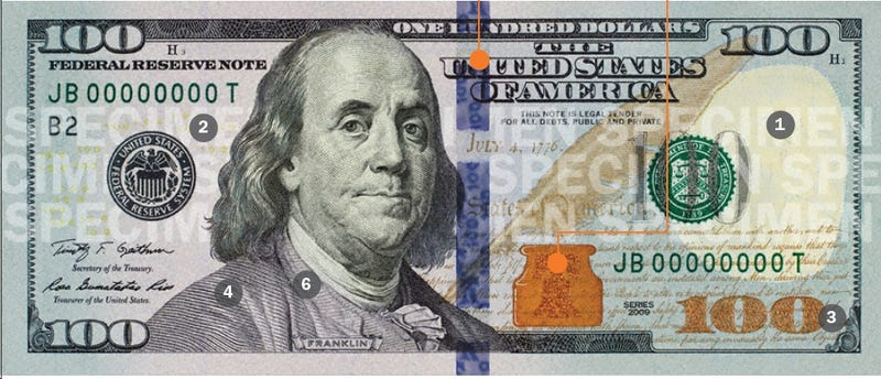 New $100 Bill Embarrassingly Colorful