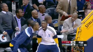 Kenneth Faried's Dunk Revealed The Demon Living Inside Nate Robinson