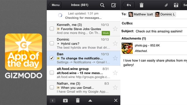 Gmail for iPhone: Not a Joke Anymore But Still Not a Real App