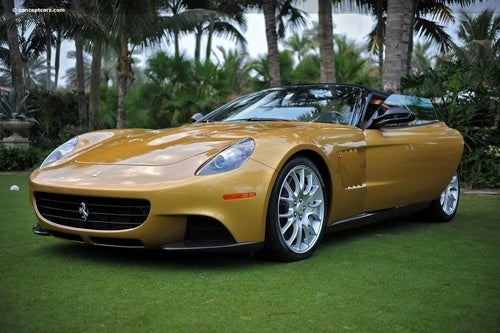 Ferrari P540 Superfast Aperta Shows Off Gold Skin In Palm Beach