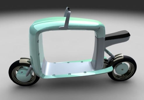 Cargo Scooter Concept is Moped With a Hole
