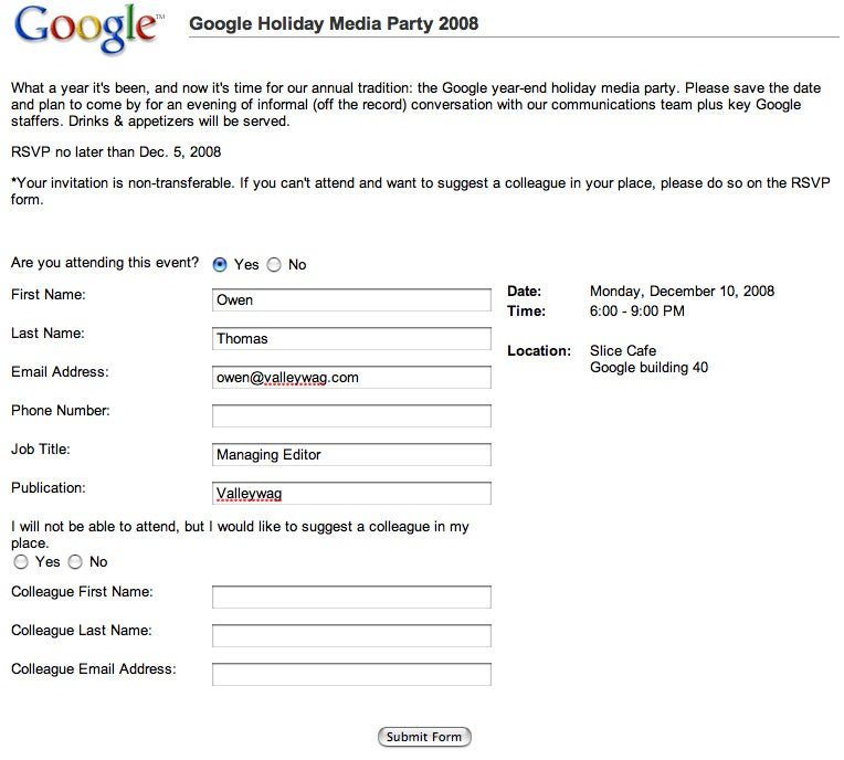 Disinvite your favorite reporter from the Google holiday party