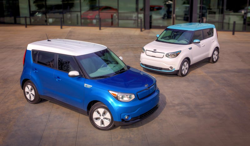 The 2015 Kia Soul EV Looks Like A Soul, Except It's Electric