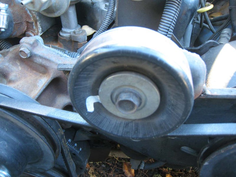 Power Steering Belt Won't Stay On? Junkyard Serpentine Idler Pulley To The Rescue!