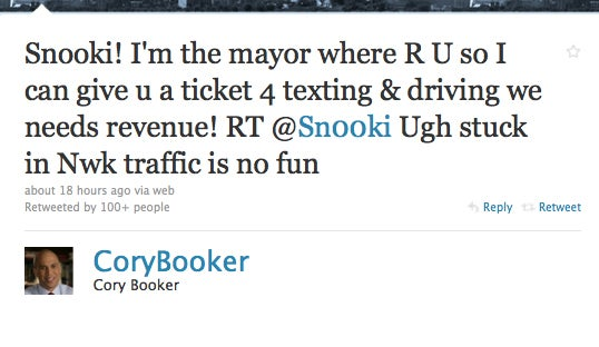 Don't Tweet While Driving in Newark, the Mayor Is Watching