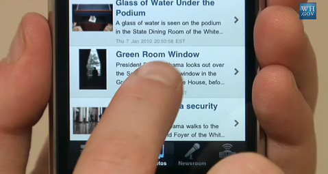 """White House Press Secretary: """"There's an App for That"""""""