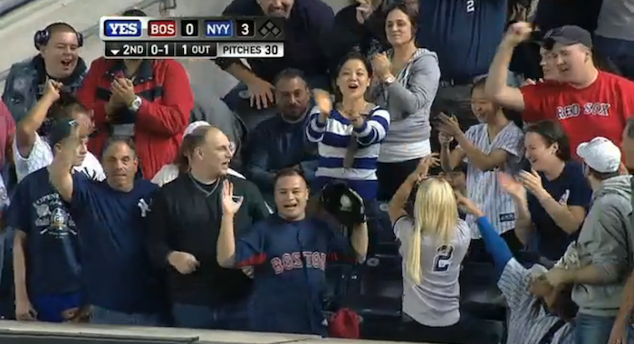A Red Sox Fan Pulled A Jeffrey Maier And Gave The Yankees A Home Run