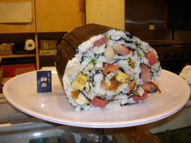 Good Luck Eating this Ridiculously Large Sushi All By Yourself