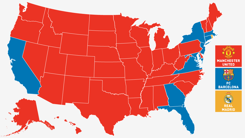 Facebook Map: The Manchester United States Of America