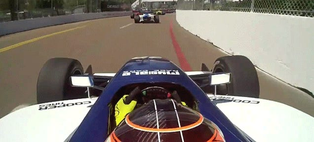 WHOA: Loose Wheel Nearly Cleaves Race Car Driver's Head Off