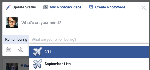 Facebook Uses Plane Emoji To Remember 9/11