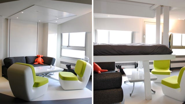 Retractable beds let you hide an entire living room under your mattress - Bed plafond ...
