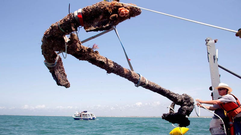 Blackbeard's Anchor Recovered off North Carolina