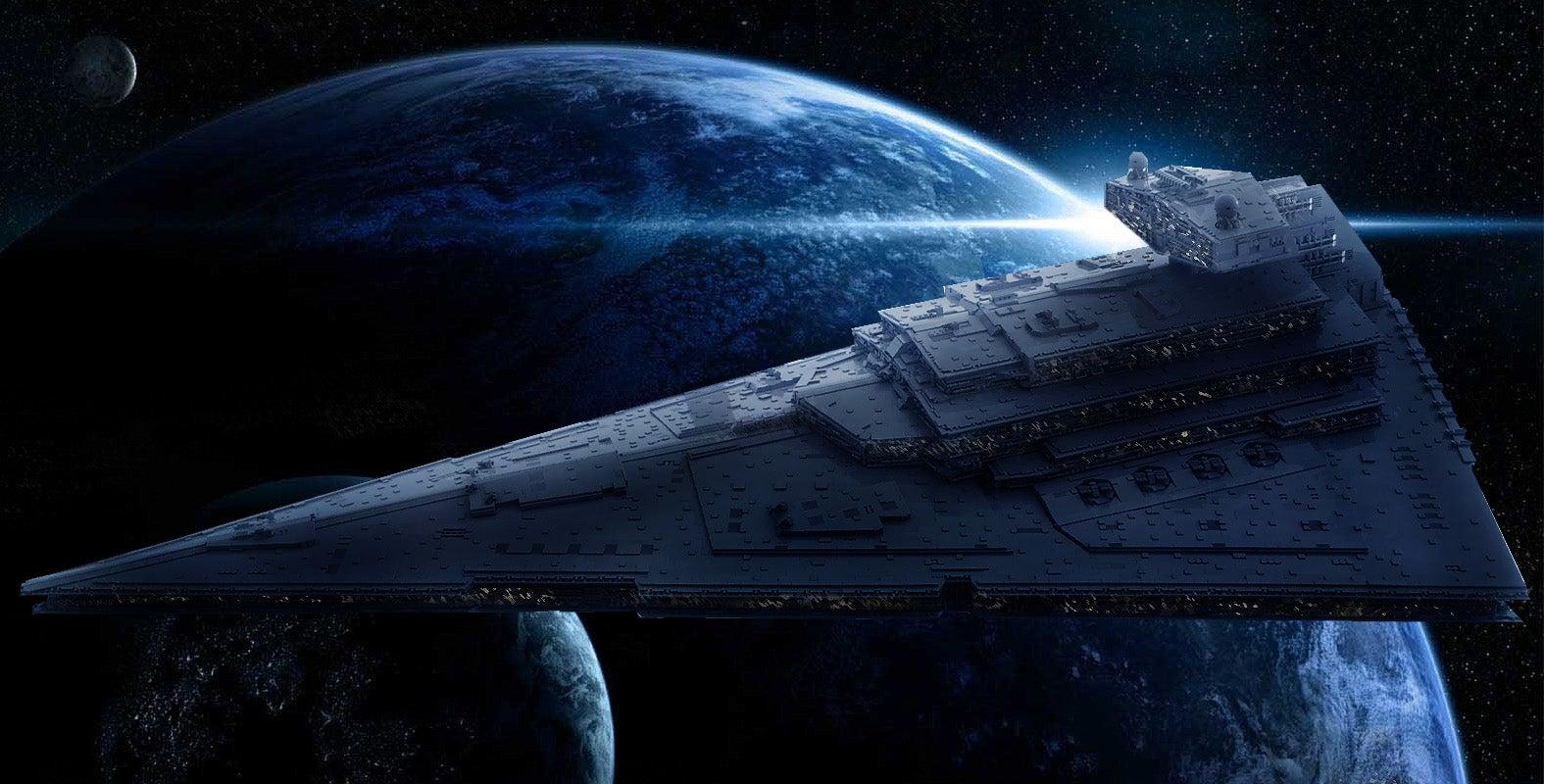 40.000 piezas de Lego: así se construye una colosal nave de Star Wars