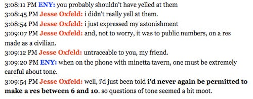 "Media Scribe Rebuffed By Restaurateur For Being ""Pushy"" Over Reservations"