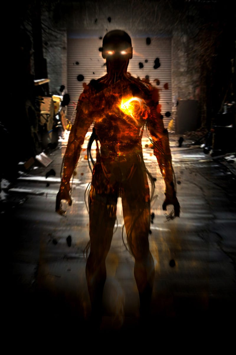 Concept art of the blazing mutant you didn't see in ​X-Men: First Class