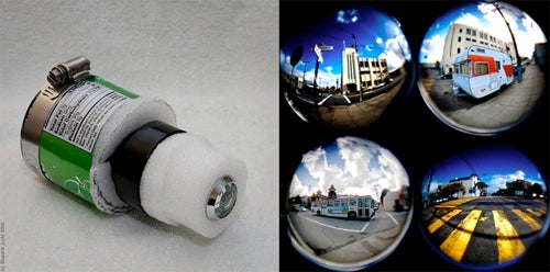 Fisheye Tin Camera Mounts To Canon DSLR For 180º Photos