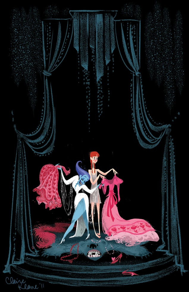 Early Frozen concept art imagined a Snow Queen based on ...