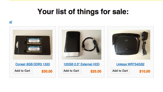List of Things For Sale Provides an Easy Place to Sell Stuff to Your Friends