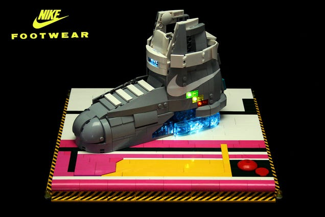Nike - Back to the Future shoes. The limited edition of 1,500 pairs is being snatched on eBay by hundreds, going for prices starting from over $3,000 up to