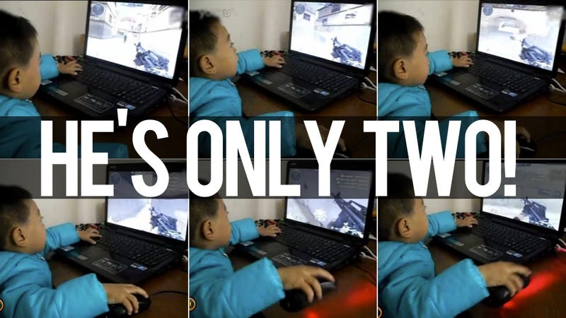Is This the World's Youngest FPS Player? He'll Snipe Your Ass. Maybe.