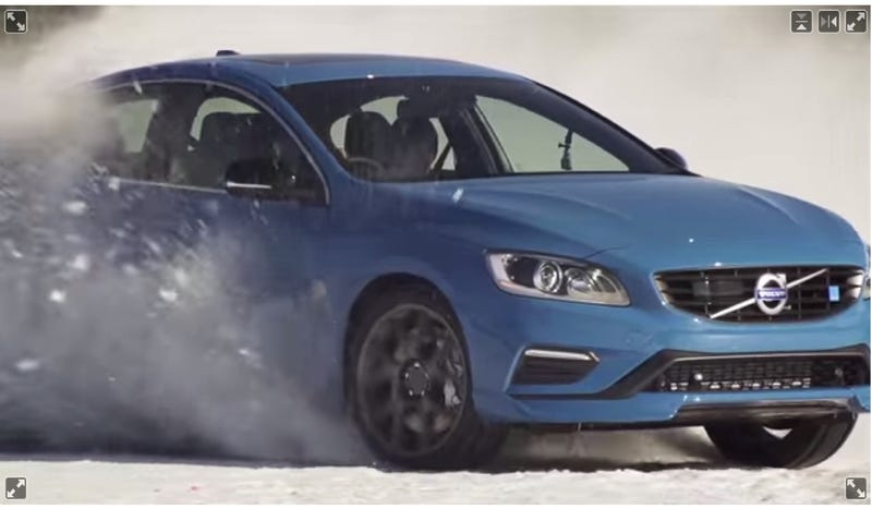 The Volvo S60 Polestar Looks Better Going Sideways